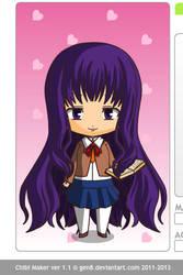 Yuri from doki doki Literature club by katharine1218