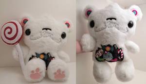 Klondike the Custom Candy Bear by loveandasandwich