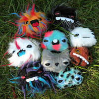 Nine Newborn Monsters by loveandasandwich