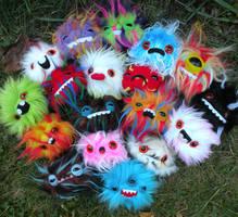 EIGHTEEN newborn monsters YEAH by loveandasandwich