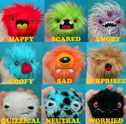 9 Emotions of Newborn Monsters by loveandasandwich