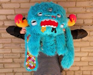 Biggg Blue Monstroctopus by loveandasandwich