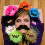 Mustache Monsterssss by loveandasandwich