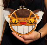 Catbus Embroidery by loveandasandwich