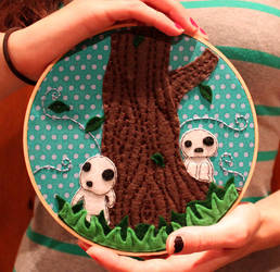 Tree spirit embroidery hoop by loveandasandwich