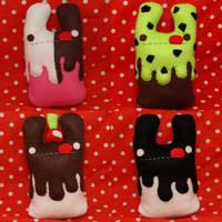 Four Ice Cream Bunnies by loveandasandwich