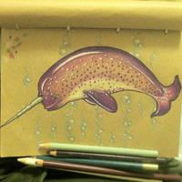 Purple Narwhal by loveandasandwich
