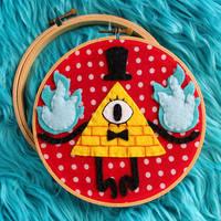 Bill Cipher hoop by loveandasandwich