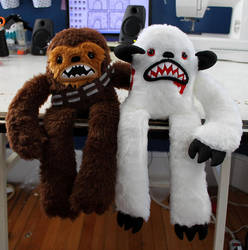 Chewie and Wampa by loveandasandwich