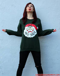 Hail Santa Sweatshirts by loveandasandwich