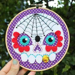 Spider Skull Hoop by loveandasandwich