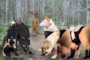 Rite of Hunt - Truffles, Screech and Marsco by MemosNiceSide