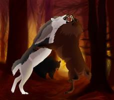 Worthy Opponent (Bear Hunt) by MemosNiceSide