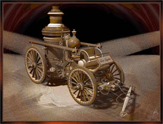 1890's Horse-Drawn Steam Fire Engine by fractalbeke