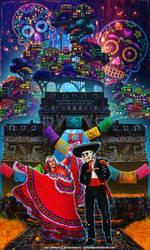 Dancing with Death - Dia de los Muertos by aaTmaHira