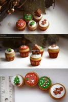 Supermini X-mas cupcakes by Evelin-Novemberdusk