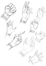 Hand drawings 02 by Davinder