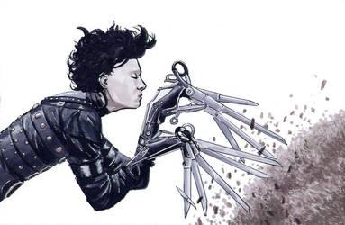 Edward Scissorhands by Davinder