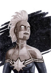 Captain Marvel by Davinder