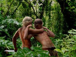 Battle of the Jungle Teens - KA-ZAR VS TARZAN by bumpman321