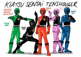 Entry # 9 Kiatsu Sentai Tenshouger by SantoKuma