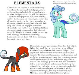 New Semi-Closed Species: Elementails by Lost-Our-Dreams