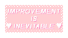 Improvement Is Inevitable Stamp by King-Lulu-Deer-Pixel