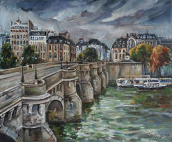 Pont Neuf at Dusk by raysheaf