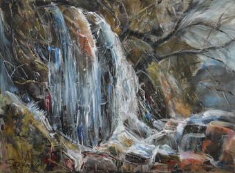 Waterfall II by raysheaf