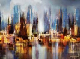 Urban Morning II by raysheaf