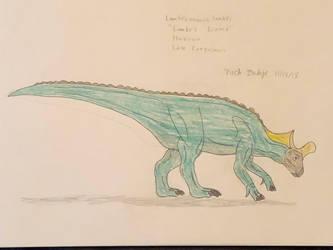 Dinovember 2018 - 13 - Lambeosaurus by Daizua123