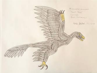 Dinovember 2018 - 22 - Microraptor by Daizua123