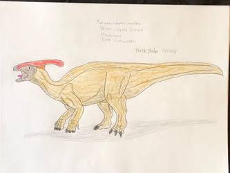 Dinovember 2018 - 23 - Parasaurolophus by Daizua123