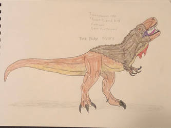 Dinovember 2018 - 28 - Tyrannosaurus by Daizua123