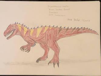 Dinovember 2018 - 29 - Giganotosaurus by Daizua123