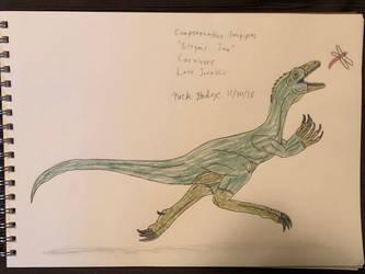 Dinovember 2018 - 30 - Compsognathus by Daizua123
