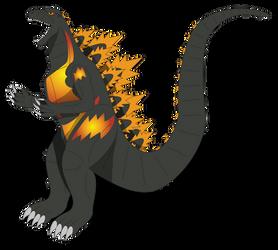 Atariverse - Burning Godzilla by Daizua123