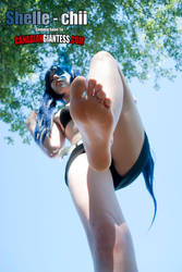 Shelle-chii Barefoot Standing POV - 08 by GiantessFantasy