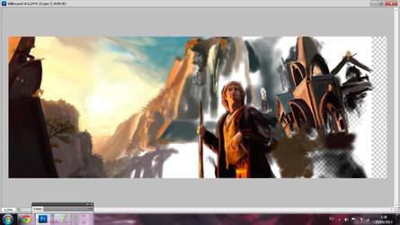 Making of: Bilbo in Rivendel by BluishDreams