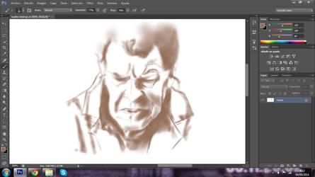 quick sketch of Walter Bishop by BluishDreams