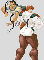 Elly and Fei Xenogears commission by Higalack