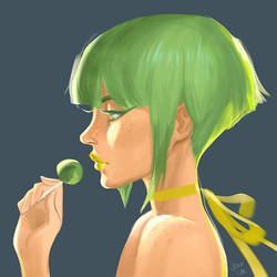 Lime Candy by JeanLeeArt
