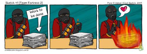 Paperwork [Team Fortress2 - Pyro] by JuliSketch