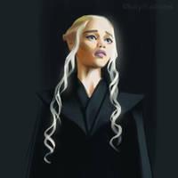 Day 3 Painting - Khaleesi by katyillustrates