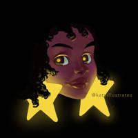 #39 - Star Earrings by katyillustrates