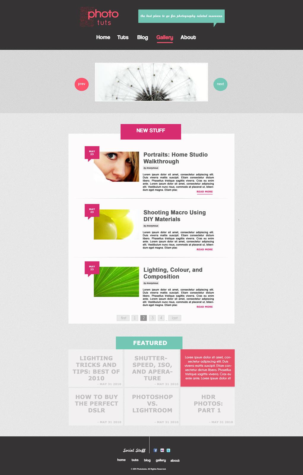 Stylish Tutorial Site by krisyay