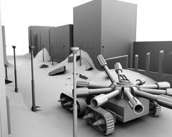 Tank animation wip by AnthonyDavila