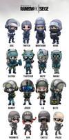 Rainbow Six Siege Operator chibis by I-GUYJIN-I