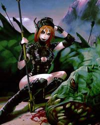 Spear huntress by I-GUYJIN-I