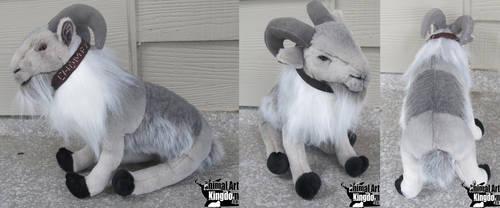 10in Grey Goat Plush by AnimalArtKingdom